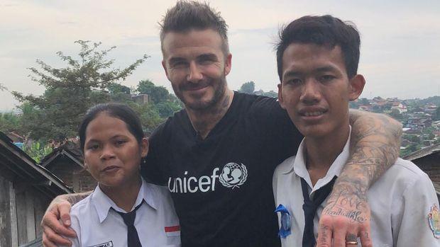 Cerita Seru Sripun, Seharian Bareng Beckham di Instagram