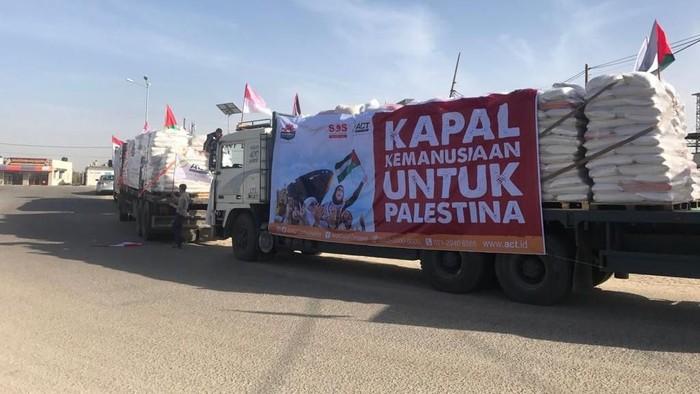 Foto: Beras Indonesia Tiba di Gaza (Dok. ACT)