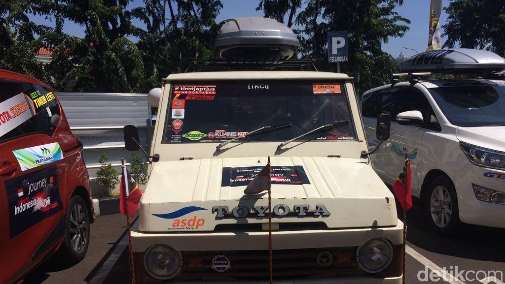 Mobil Jadul sampai Mobil Baru Siap Tempuh Jakarta-Timor Leste