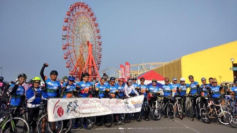 Foto: Pesepeda Indonesia di Wakayama Cycling Fiesta (dok Istimewa)