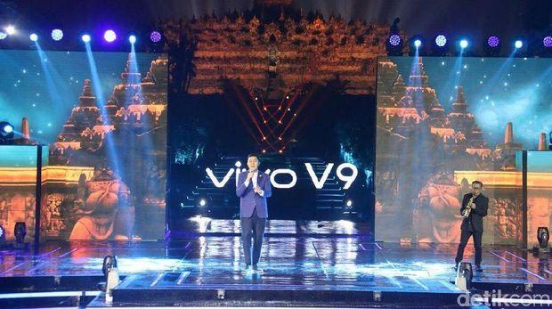 Tulus saat ikut memperkenalkan Vivo V9 (detikINET/Ambarwati)