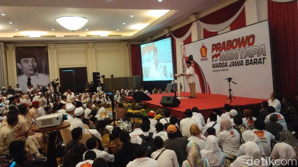 Prabowo: Menangkan Dulu Sudrajat-Syaikhu, Selanjutnya 2019
