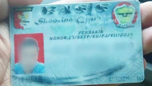 Kartu Perbakin yang disita dari pengemudi 'koboi'