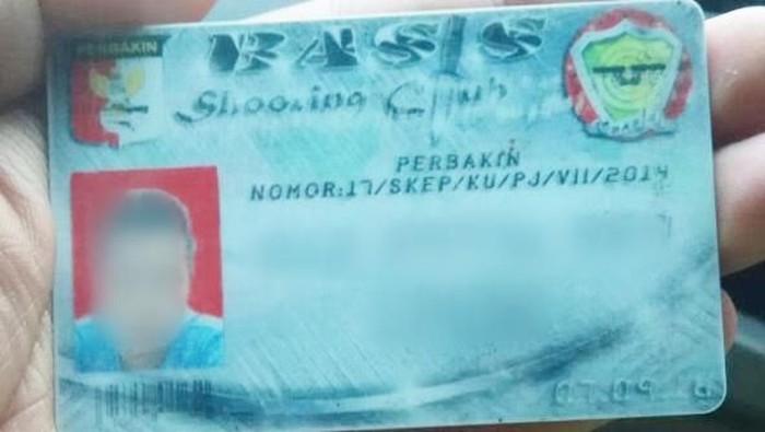 Foto: Kartu Perbakin yang disita dari pengemudi koboi (dok. istimewa)