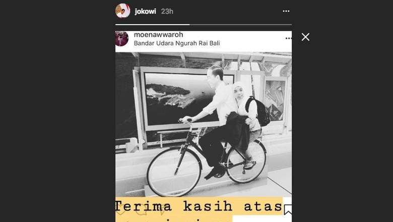 Jokowi komentari foto traveling lucu (@jokowi/Instagram)