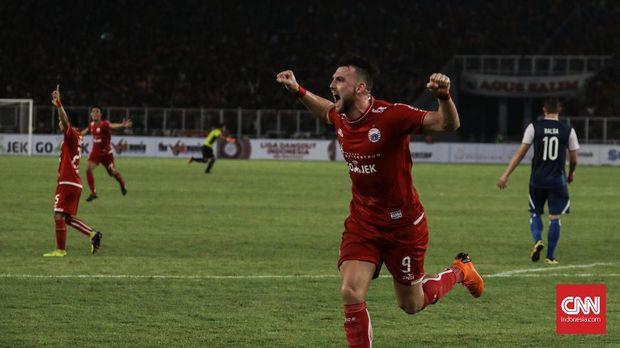 Marko Simic sudah mencetak tiga gol dalam lima pertandingan di Liga 1 2018.