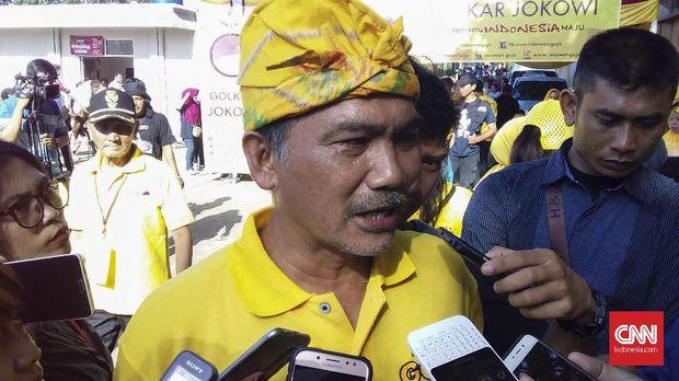 Plt Ketua DPD Partai Golkar DKI Rizal Mallarangeng.