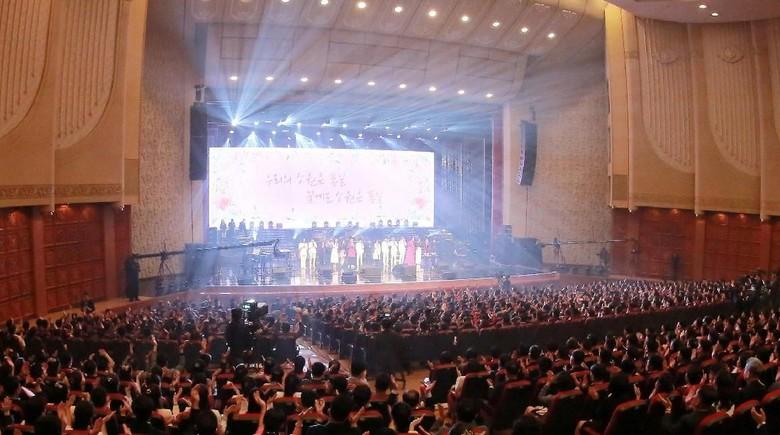 Ilustrasi konser musik. Foto: KCNA/via Reuters