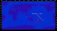 Titik jatuh stasiun luar angkasa Tiangong-1 di Samudera Pasifik