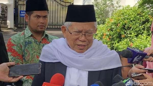 Sebelum Tes Kesehatan, Maruf Amin Temui Jokowi di Istana