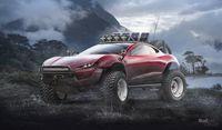 Desain Tesla Roadster offroad