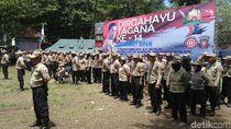 Mensos Hadiri Apel Nasional HUT Tagana di Kebumen
