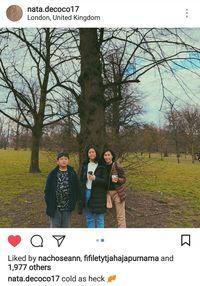 Veronica Tan bersama Nathania dan Daud di London, Inggris.