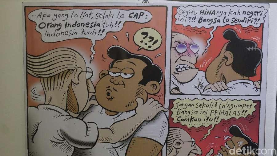 Kreatif! Komik-komik Ini Dipajang Bak Karya Seni Kontemporer