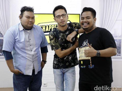 Komika yang tergabung dalam Majelis Lucu Indonesia saat di acara d'Happening.