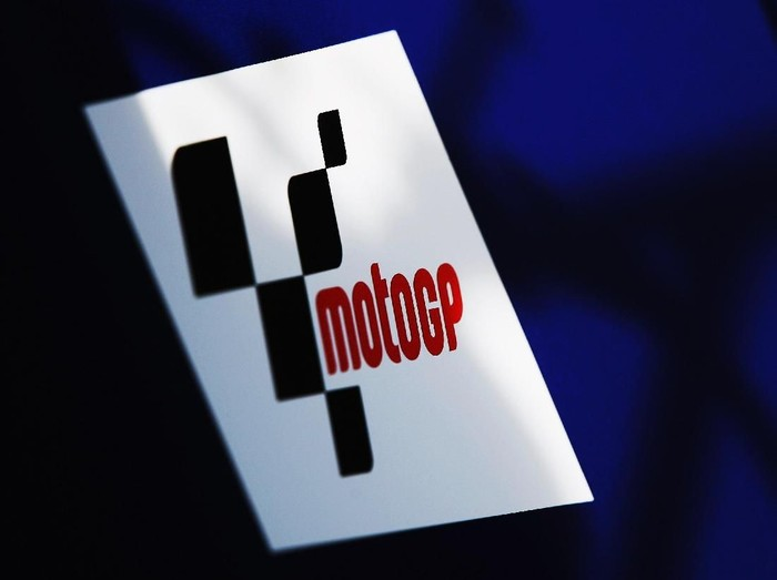 JEREZ DE LA FRONTERA, SPAIN - FEBRUARY 16:  A detail photo of the MotoGP logo during MotoGP Testing at the Circuito de Jerez, on February 16, 2008 in Jerez, Spain.  (Photo by Bryn Lennon/Getty Images)