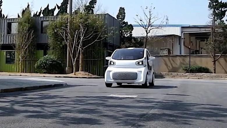 Mobil listrik yang dibuat dari pencetakan 3D (Foto: Polymaker)