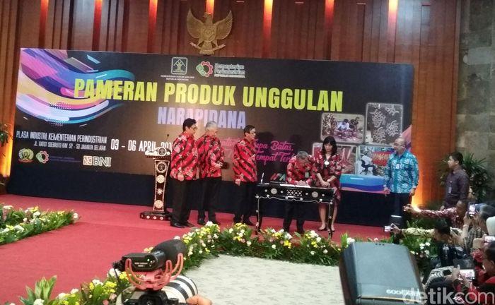 Kementerian Perindustrian gelar pameran produk unggulan narapidana di Plasa Industri, mulai dari 6-9 April 2018.