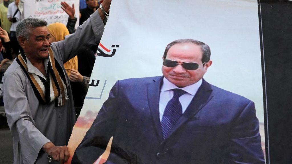 Raih 97 Persen Suara, Al-Sisi Menang Telak di Pilpres Mesir