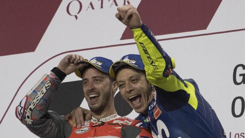 Rossi: Dovizoso Mungkin Lebih Menyulitkan Dibandingkan Marquez