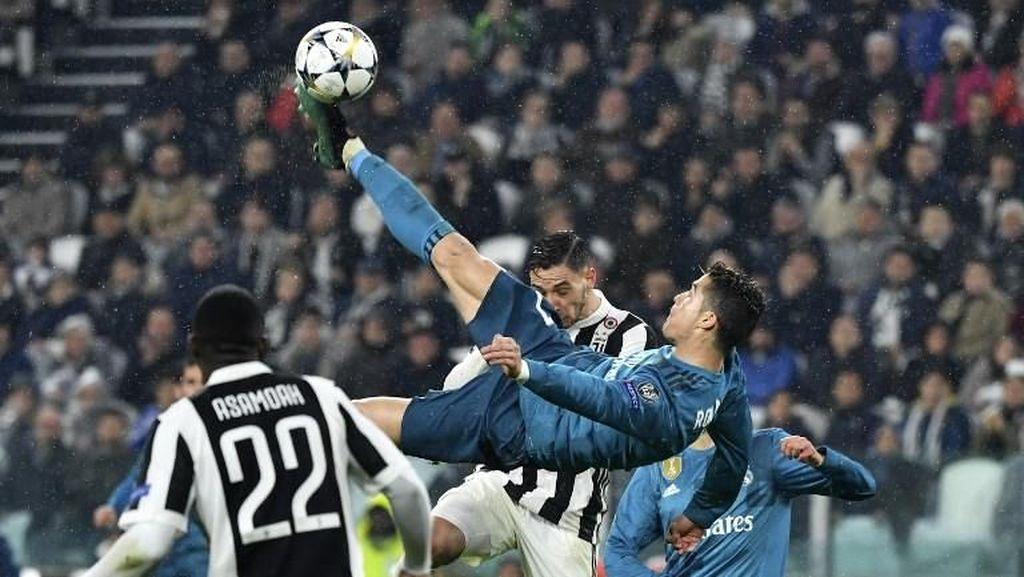 Lihat di Stadion atau di TV, Gol Salto Ronaldo Sama Kerennya