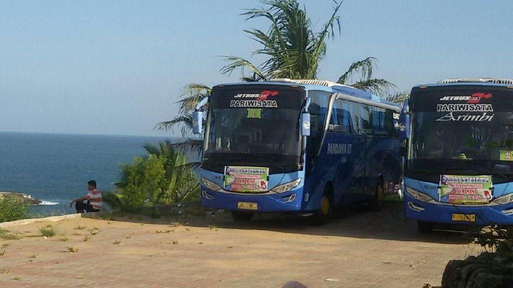 Hore! Bus Besar Bisa Masuk Pantai Klayar