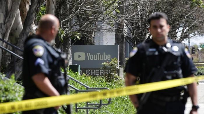 Lokasi penembakan di kantor YouTube. Foto: Reuters