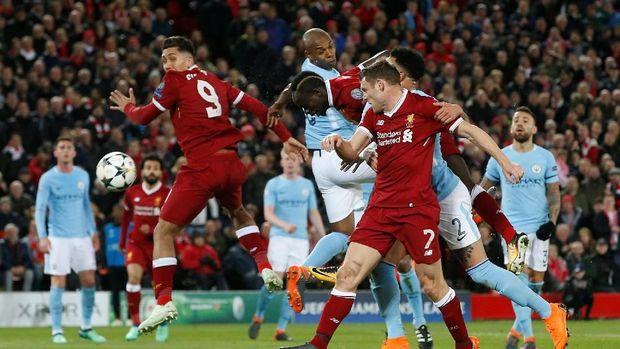 Roberto Firmino mencetak gol kemenangan Liverpool atas Manchester City.