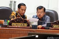 Presiden Jokowi dan Wapres Jusuf Kalla.