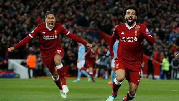 Mohamed Salah memberikan satu gol dan satu assist pada laga lawan Manchester City.