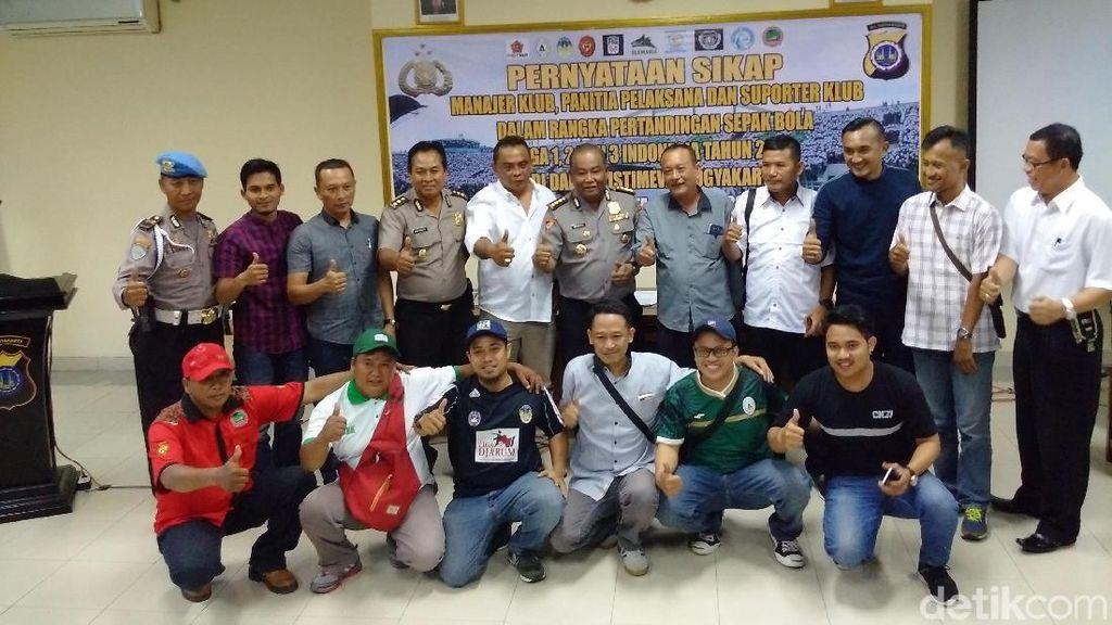 Polisi Rangkul Suporter dan Tim Sepakbola Se-DIY untuk Nyatakan Sikap