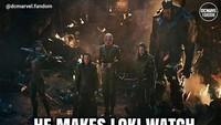 Loki pun memberikan Tesseract kepada Thanos sebagai pergantian nyawa dengan Thor. Foto: dok Instagram