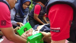Untuk persiapan Asian Games 2018, Kementerian Kesehatan RI mengadakan simulasi gawat darurat untuk meningkatkan persiapan para tenaga kesehatan.