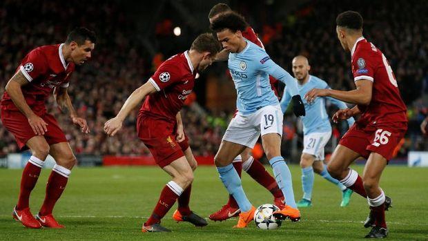 Liverpool dua kali mengalahkan Manchester City di perempat final Liga Champions.