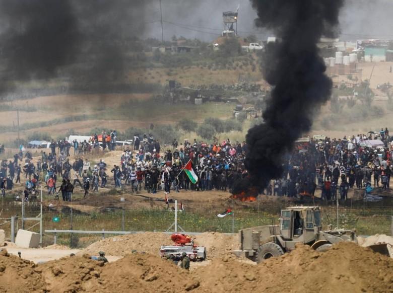 Aksi di Perbatasan Gaza, 1 Warga Palestina Tewas Ditembak Israel