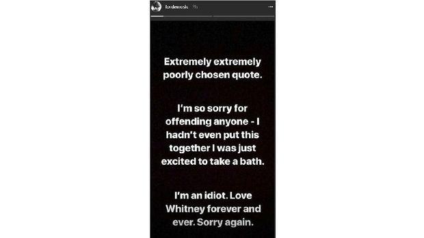 Permintaan maaf Lorde.