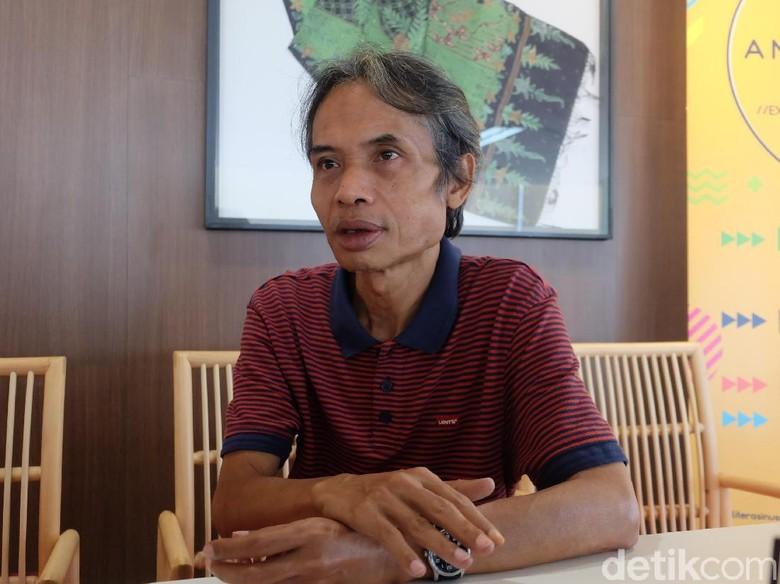 Novel Perdana Joko Pinurbo Berjudul Srimenanti Foto: Tia Agnes/ detikHOT