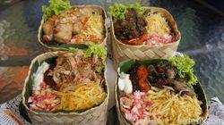 Hoo Hah Box: Sedap Mantap! Lidah Sapi Cabe Hijau dan Cumi Hitam Dalam Besek