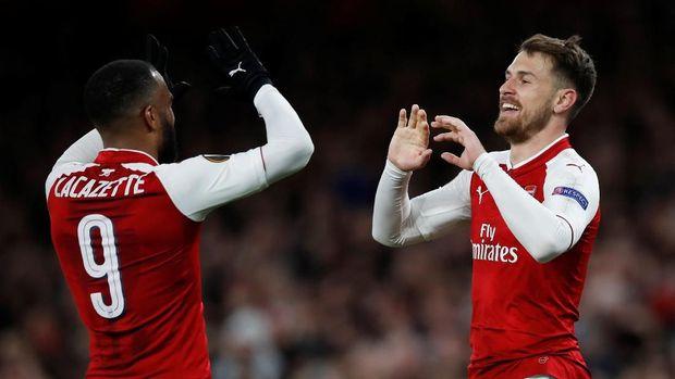Aaron Ramsey menjadi salah satu bintang Arsenal dengan menyumbang satu gol dan memberikan satu assist.