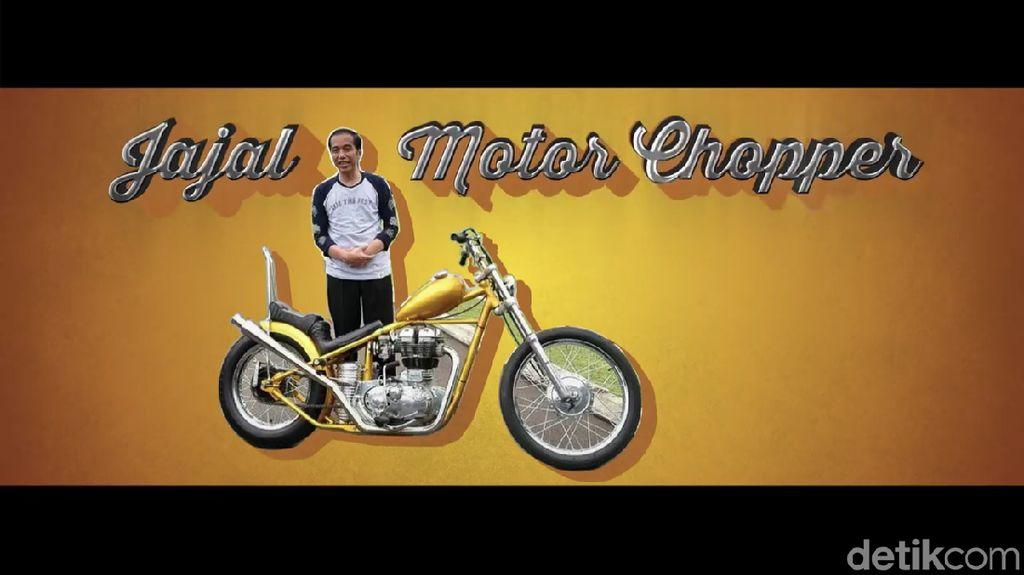 Brum... brum... Begini Gaya Jokowi Geber Chopper Bak Dilan