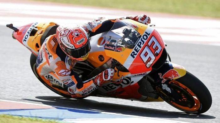 Marc Marquez meraih enam kemenangan beruntun di MotoGP Austin (Foto: Juan Mabromata/AFP Photo)