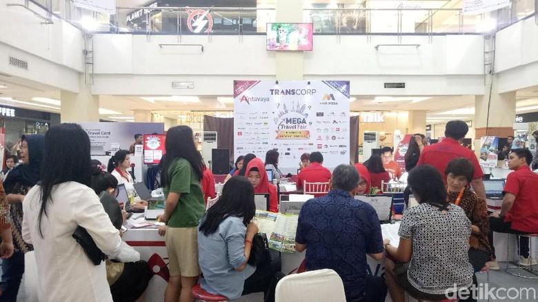 Suasana di Mega Travel Fair Palembang 2018 (Raja Adil/detikTravel)