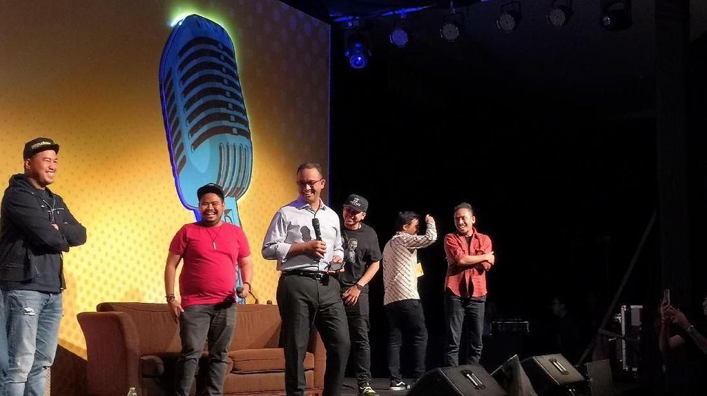 Jadi Tamu Rahasia, Anies Baswedan Bikin Riuh Local Stand Up Day