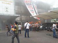 Kebakaran di gedung SDM Polda Metro Jaya.