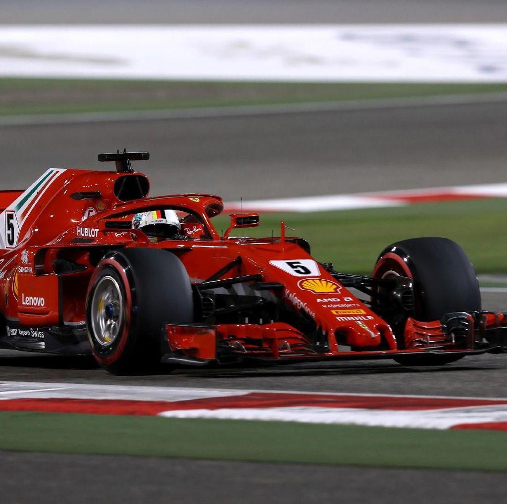 Ungguli Raikkonen, Vettel Rebut Pole di Bahrain