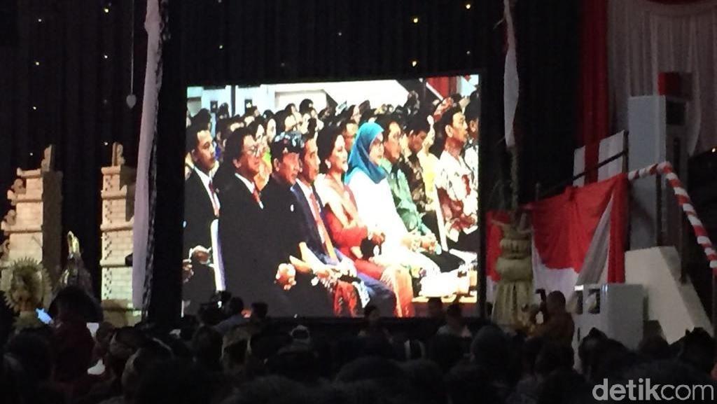 Jokowi Hadiri Puncak Perayaan Nyepi 2018 di Mabes TNI