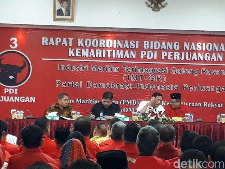 Luhut dan Airlangga Hadiri Rapat Bidang Kemaritiman PDIP
