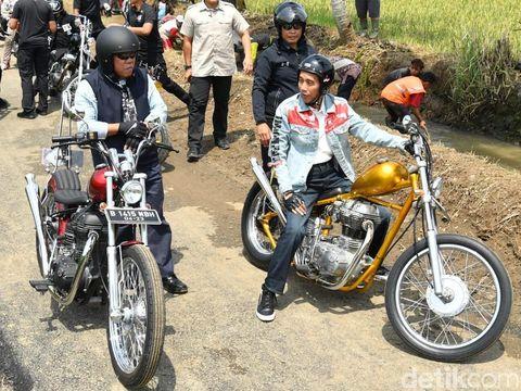 Jaket denim Jokowi saat touring ke Sukabumi yang didesain Never Too Lavish