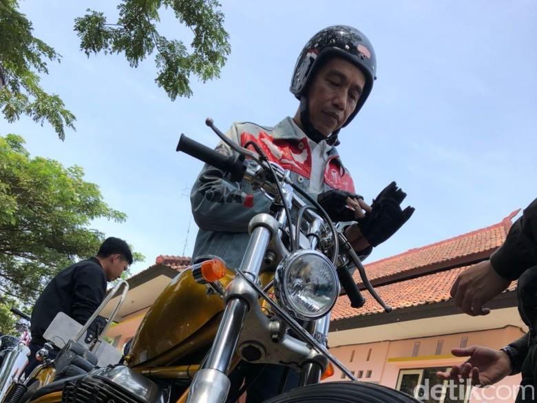 Ungkapan Jokowi Usai Touring Naik Chopper: Bruum..Bruum, Senang