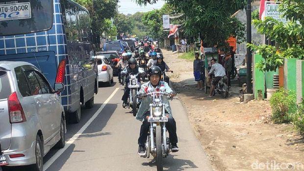 Jokowi dan rombongannya